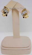 Ladies Bead Set Diamond Earrings in 18k Yellow Gold