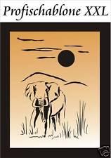 Schablone, Wandschablone, Malerschablone, Afrika - Wüstenelefant XXL 100x67