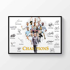 Leeds United Champions Winners 2019-2020 Signed Printed Poster A4
