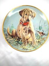 Franklin Mint Heirloom Eye to Eye Golden Lab plate Limited Edition signed Killen