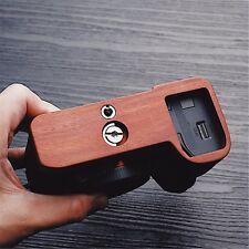 Mahogany Wooden Wood Hand Grip Plate Bracket For SONY A7II A7M2 A7RII A7R2 A7S2