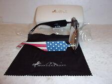 Montana West Sunglasses w/ UV400 Protection - U.S. Flag Design with Case - NEW