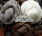 100% Shetland Natural Wool Roving Felting, needle felting, animal colours 120g