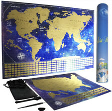 Scratch Off Map of World and USA - Relive Your Travel Adventures