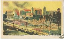 Original Vintage 1898-1906 Undivided Back PC- Trail of San Francisco Earthquake