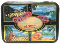 Mr. Coffee Collector Tin Limited Edition Coffees of the World Hinged Nice Decor.