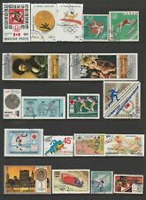 75 World Individual Used Stamps All Depicting Olympic Games.  See Photos.