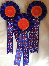3 X Christmas Well Done Rosettes