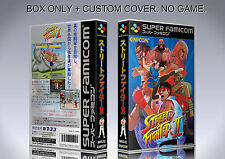 STREET FIGHTER 2. JAPAN FORMAT. Box/Case. Super Nintendo. BOX + COVER. (NO GAME)
