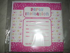 Children's party invitations