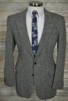 (41L) Stafford Mens Gray Herringbone TWEED Wool Classic Blazer Sport Coat Jacket