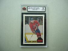 1987/88 O-PEE-CHEE NHL HOCKEY CARD #227 CLAUDE LEMIEUX ROOKIE KSA 8 NM/MINT OPC