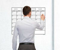 18x24 Monthly Erasable Blank Reusable Undated One Month Wall Calendar Planner