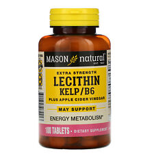 Mason Natural  Lecithin with Kelp B6  Plus Cider Vinegar  Extra Strength  100
