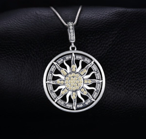 Silberanhänger / Sonne mit Silberkette 925 Silber