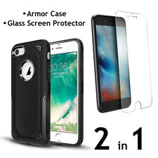 iPhone 8 Armor Case PC+TPU Air Cushion Tech and Glass Screen Protector  2 in 1
