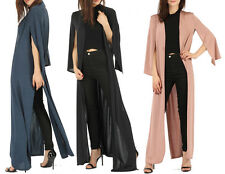 New Womens Cape Style Maxi Duster Coat Blazer Jacket Evening Xmas Party Cover Up