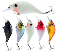 5pcs Floating Fishing Lures Deep Diving Crankbait Minnow Pesca Isca Wobblers