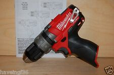 """New Milwaukee M12 Fuel Brushless 1/2"""" Hammer Drill Tool Only 2404-20 bare tool"""