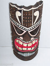 Hand Carved in Bali Indonesia Polynesian/Hawaiian Style Hanging Wooden Tiki Mask