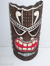 Hand Carved in Bali Indonesia Polynesian/Hawaiian Style Hanging Wooden Tiki Mask