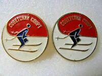 Vintage Badge Sign Soviet Sport Ski Racing pin USSR