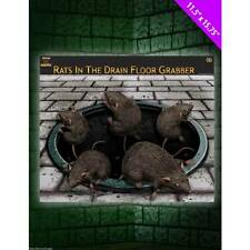 Rats in the Drain Halloween Sticker Cling Decoration Rat Fancy Dress Party Prop