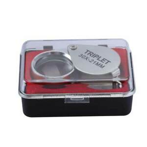 30 X* 21 MM /20 X* 21 MM/10 X* 21 MM inch metal jewelry magnifying glass NEW