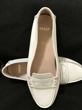 BALLY Switzerland Womens Size 39 Daphnee Ivory Leather Loafers Driving Moccasins
