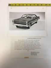 1966 Comet Cyclone GT Official Mercury Press Release Photo with Documentation