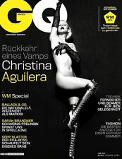 GQ Magazine Germany Deutsch,Christina Aguilera,Sarah Brandner, Sepp Blatter NEW