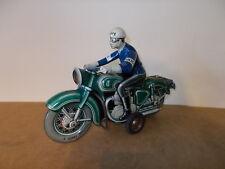 Ancien jouet vintage moto motorcycle TIPPCO TCO 598 POLICE avec lumière - 50s
