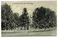 Mt Montana Deer Lodge Court House Square Unposted Early Db German-made