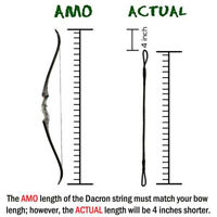 """Archery Replacement Dacron Bow String 14 Strands for Recurve Long Bow AMO 52-68"""""""
