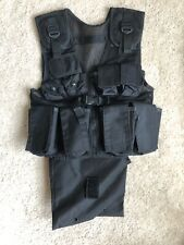 Airsoft Vest Black w/ Removable Dump Pouch | Small | Used Once