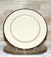 Lenox Montclair Presidential * 3  SALAD PLATES * Platinum, 2nd Qlty, Excellent!