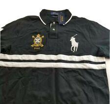 Polo Ralph Lauren Embroidered Big Pony Crest Custom Slim Fit Mens Mesh Shirt NWT