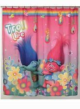 Trolls Fabric Shower Curtain 72in X 72 in