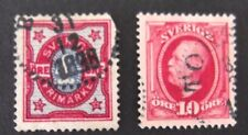 Sweden-1891-2 Nice examples-Used