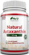 Astaxanthin 12mg - 180 Softgels (6 Month Supply) - Highest Strength Astaxanthin