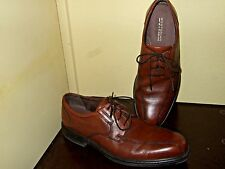 Bostonian Flexlite Ipswich  Leather Mens Dress Lace Up Shoes square toe 12 brown
