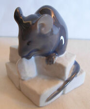 ROYAL COPENHAGEN PORCELAIN FIGURINE MOUSE ON SUGAR BY ERIK NIELSEN- MODEL  # 510