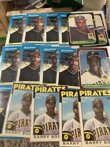 1987 Massive Barry Bonds RC Lot of (105)RC/Rookie Cards Pittsburgh Pirates! HUGE