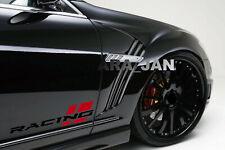 RACING Decal Sticker Sport car stripe emblem logo motorsport performance PAIR 2p