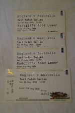 Cricket Collectable - Nottinghamshire CCC - 2001 Test Match Tickets.