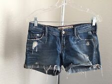 Hollister Jrs Summer Beach Shorts Mini Distressed Daisy Dukes Size 1