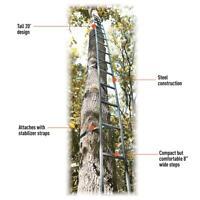 20' Tree Ladder Step Climbing Sticks Deer Hunting Steel Step Sticks Fast Setup