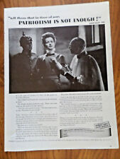 1944 War Advertising Council Ad 1915 St. Gilles Prison Brussels Edith Cavell