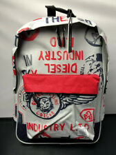 Diesel Industries Flying Cougar School College Gym Gray Red GQ Backpack New!