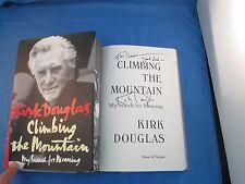 Kirk Douglas Signed Book Climbing The Mountain BSC COA Autograph Gladiator